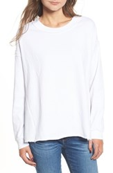 Stateside 'S Mixed Media Swing Sweatshirt White