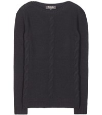 Loro Piana Kimberley Baby Cashmere Knitted Sweater Black