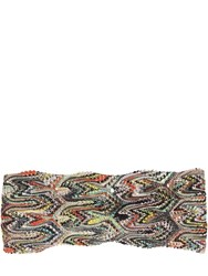 Missoni Printed Lace Knit Headband Multicolor