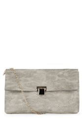 Warehouse Oversized Slouchy Clutch Light Grey