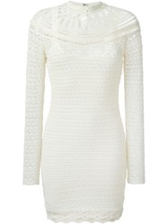 Isabel Marant Crochet Knit Dress Nude And Neutrals