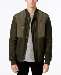 William Rast Men's Benton Bomber Jacket Olive Knight