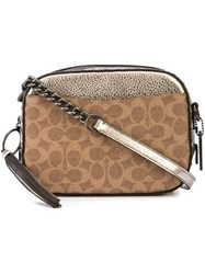 Coach Coated Canvas Camera Bag Brown