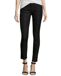 Current Elliott Slim Fit Lace Stretch Jeans Bonded Black