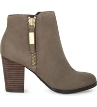 Aldo Mathia Leather Ankle Boots Grey