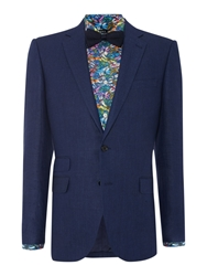 New And Lingwood Notch Collar Suit Blue