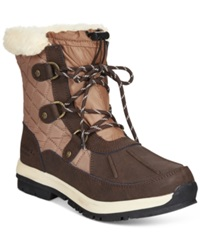 Bearpaw Bethany Lace Up Waterproof Cold Weather Booties Women's Shoes Brown Tan