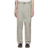 Christophe Lemaire Grey Pleated Trousers