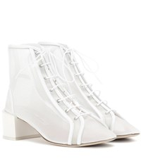Acne Studios Mable Mesh Ankle Boots White