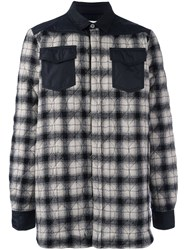 Off White Checked Shirt Black