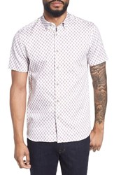 Ted Baker London Newfone Trim Fit Chambray Sport Shirt Pink