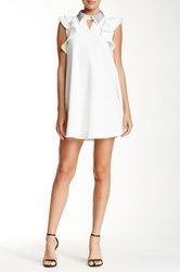 Gracia Jeweled Collar Dress White