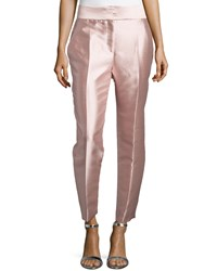 J. Mendel Mikado High Waist Pants Rose Pink