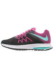 Nike Performance Zoom Winflo 3 Cushioned Running Shoes Black Clear Pink