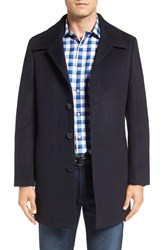 Nordstrom Men's Men's Shop Wool Blend Car Coat Navy