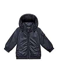 Moncler Eautache Zip Front Raincoat Navy Size 12 Months 3