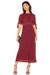 C Meo Collective Affix Midi Dress Red