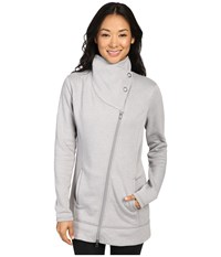 Lucy Long Hatha Jacket Silver Filigree Heather Women's Coat Gray