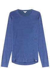 Orlebar Brown Long Sleeved Cotton Top Blue