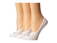 Nike 3 Pair Pack Lightweight Footie White Black Women's No Show Socks Shoes