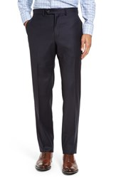 Strong Suit Men's Dagger Flat Front Solid Wool Trousers