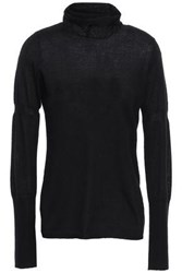 Duffy Woman Cashmere And Silk Blend Turtleneck Sweater Black