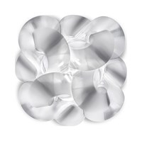 Slamp Fabula Wall Ceiling Light Small 19 In Width Transparent
