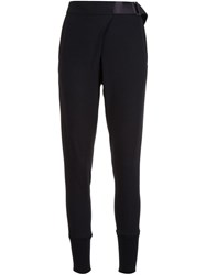 Ann Demeulemeester Skinny Deconstructed Trousers Black