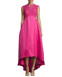 Monique Lhuillier Beaded Cutout High Low Gown Orchid
