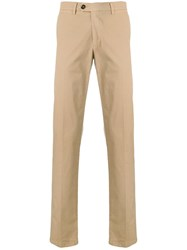 Canali Slim Fit Chinos Neutrals