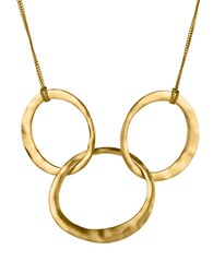 Kenneth Cole Goldtone Hammered Rings Necklace