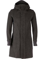The Viridi Anne Hooded Coat Grey