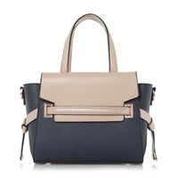 Dune Dinidelpha Small Winged Tote Bag Navy