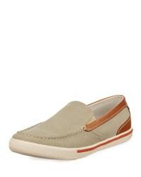 Tommy Bahama Costa Venetian Fabric Slip On Brown