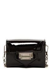 Sondra Roberts Laser Cut Flap Crossbody Black
