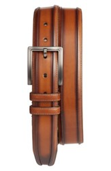 Mezlan Men's Palma Leather Belt Honey