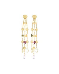 Marco Bicego Paradise 18K Gold And Gemstone Three Strand Drop Earrings Women's
