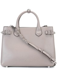 Burberry Removable Strap Medium Tote Grey