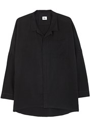 Chapter Mith Black Linen Blend Overshirt