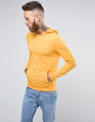 Asos Muscle Hoodie In Yellow Coleman