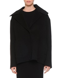 Bottega Veneta Cashmere Notched Collar Full Body Jacket