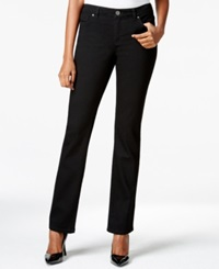 Style And Co. Petite Embellished Bootcut Jeans Black Rinse Only At Macy's