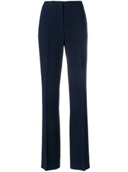 Mantu Creased Tailored Trousers Blue
