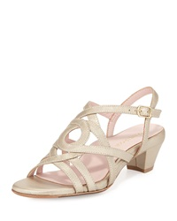 Oma Strappy Leather Sandal Soft Gold Taryn Rose