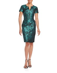 Nue By Shani Floral Sheath Dress Black Aqua
