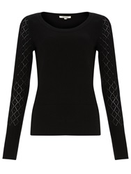 Alice By Temperley Somerset By Alice Temperley Pointelle Sleeve Jumper Black