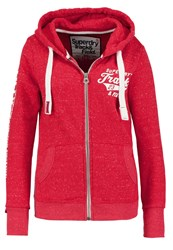 Superdry Track And Field Tracksuit Top Courage Red Snowy