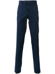 Brunello Cucinelli High Rise Slim Trousers Blue