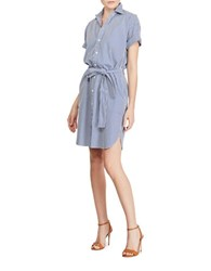 Polo Ralph Lauren Striped Cotton Shirtdress Blue White