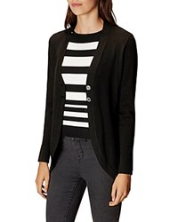 Karen Millen Notched Collar Cardigan Black
